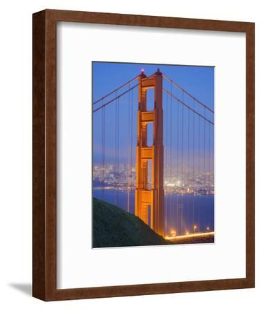 Tower of Golden Gate Bridge and San Francisco at Dusk