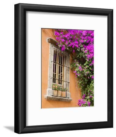 Window and Flower Pots, San Miguel De Allende, Guanajuato State, Mexico