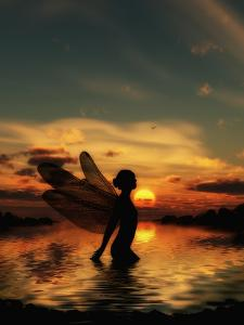 Fairy at Sunset by Julie Fain