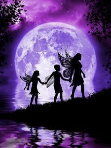 Moonlit Path by Julie Fain