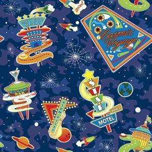Cosmic Voyage Pattern by Julie Goonan