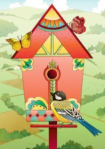 Country Birdhouse by Julie Goonan