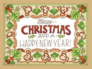 Merry Christmas and Happy New Year-color by Julie Goonan