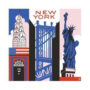 New York Print by Julie Goonan