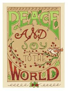 Peace & Joy To The World-color by Julie Goonan