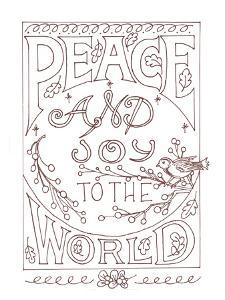 Peace & Joy To The World by Julie Goonan