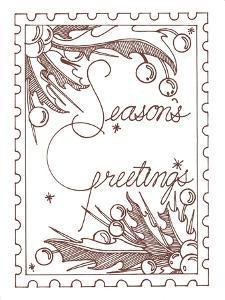 Season's greetings line art by Julie Goonan