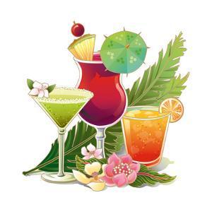 Tropical Drink II by Julie Goonan