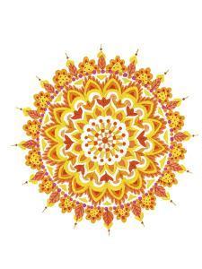 yellow mandala 1 by Julie Goonan