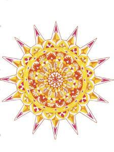 yellow mandala 2 by Julie Goonan