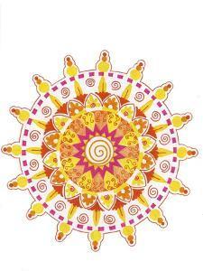 yellow mandala 4 by Julie Goonan