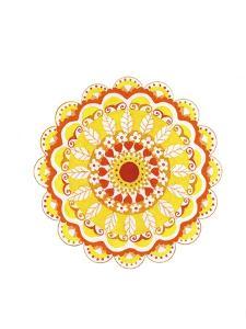 yellow mandala 5 by Julie Goonan