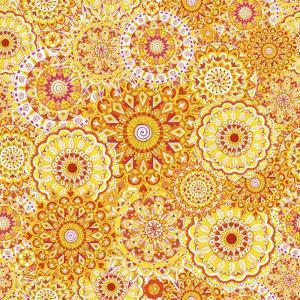 Yellow Mandala Daze by Julie Goonan