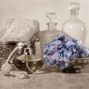 Hydrangea and Atomizer by Julie Greenwood