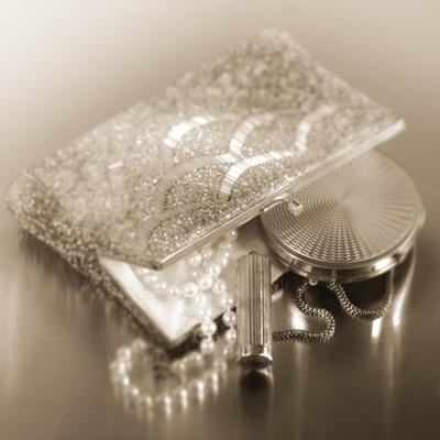 Vintage Glamour Evening Bag and Compact by Julie Greenwood