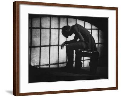 Julie Harris in Role of Joan of Arc in the Play The Lark-Gordon Parks-Framed Premium Photographic Print