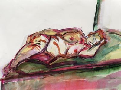 Fat Sleeping Nude, 2015