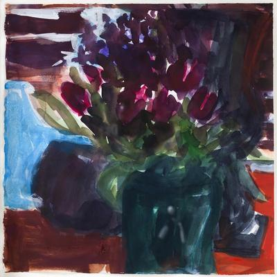 Tulips,2017(watercolour