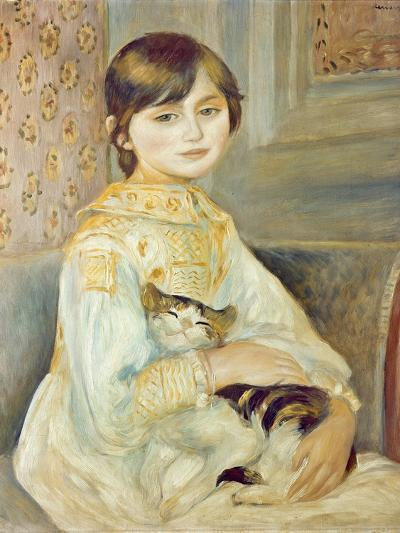 Julie Manet with Cat, 1887-Pierre-Auguste Renoir-Giclee Print