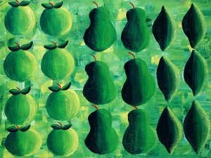 Apples, Pears and Limes, 2004 by Julie Nicholls