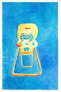 Baby in High Chair, 2006 by Julie Nicholls