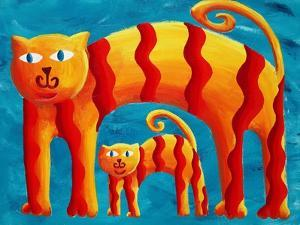 Curved Cats, 2004 by Julie Nicholls
