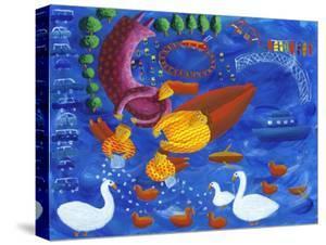 Feeding the Ducks, 2003 by Julie Nicholls