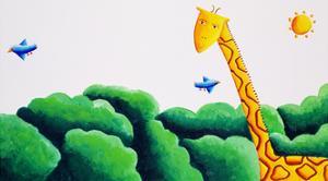 Giraffe and Birds, 2002 by Julie Nicholls