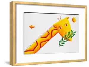 Giraffe and Leaves, 2002 by Julie Nicholls