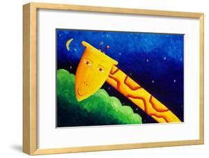 Giraffe and Moon, 2002 by Julie Nicholls