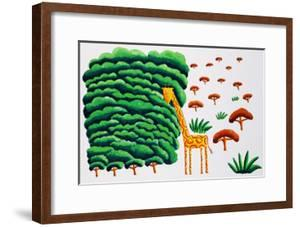 Giraffe and Trees, 2002 by Julie Nicholls