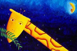 Giraffe at Night, 2002 by Julie Nicholls