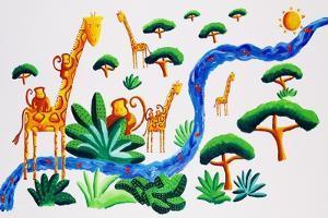 Jungle River 2, 2002 by Julie Nicholls