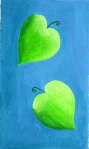Leaf Hearts, 2003 by Julie Nicholls
