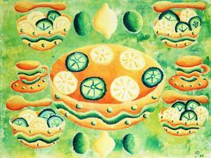 Lemons and Limes with Bowls, 2006 by Julie Nicholls