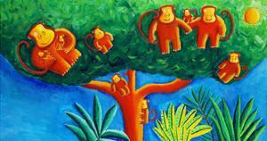 Monkeys in a Tree, 2002 by Julie Nicholls