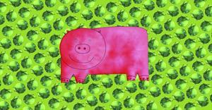 Pig with Green Apples, 2003 by Julie Nicholls