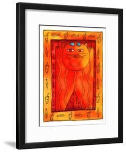 Sunbathing Cat, 1999 by Julie Nicholls