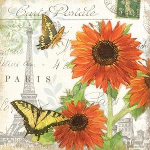 Carte Postale Sunflowers I by Julie Paton
