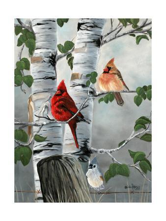 Cardinals and Titmouse
