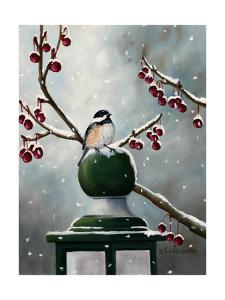 Chickadee in the Snow by Julie Peterson
