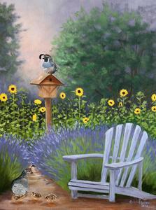 Lavender Quail Watch by Julie Peterson