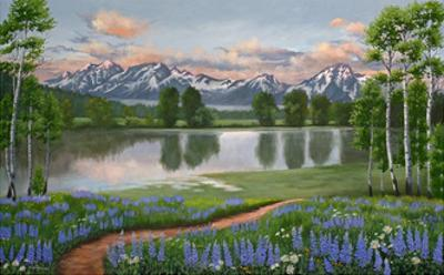 Lupine Trail Tetons by Julie Peterson