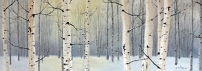 Winter Birch Forest by Julie Peterson