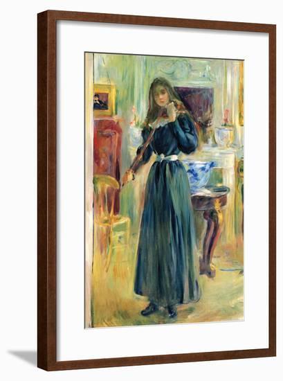 Julie Playing Violin-Berthe Morisot-Framed Art Print