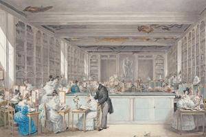 Pierre-Joseph Redouté's School of Botanical Drawing in the Salle Buffon in the Jardin Des Plantes by Julie Ribault