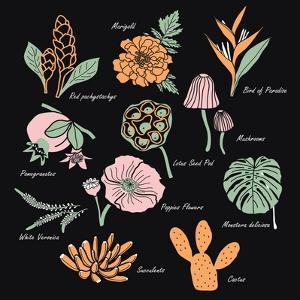 Vintage Flowers Illustration 1 by Julie T