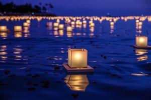 Japanese Floating Lanterns by Julie Thurston