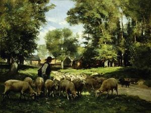 A Shepherd and his Flock by Julien Dupre