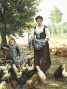 Feeding the Chickens by Julien Dupre